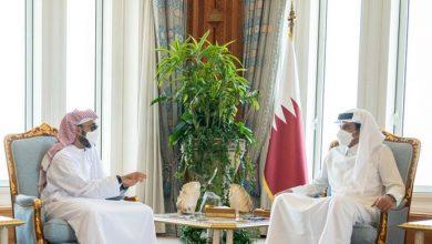 صورة أمير قطر ومستشار الأمن الوطني الاماراتي يبحثان في الدوحة تعزيز التعاون في المجالات الاقتصادية والتجارية والمشاريع الاستثمارية الحيوية